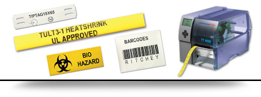 thermal printed tags from Ritchey-ID